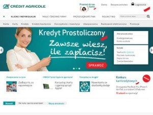Strona Credit Agricole