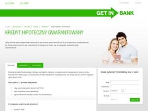 Strona kredytu hipotecznego getin banku