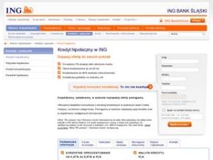 Strona kredytu hipotecznego ING