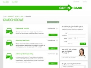 Kredyt samochodowy Getin banku